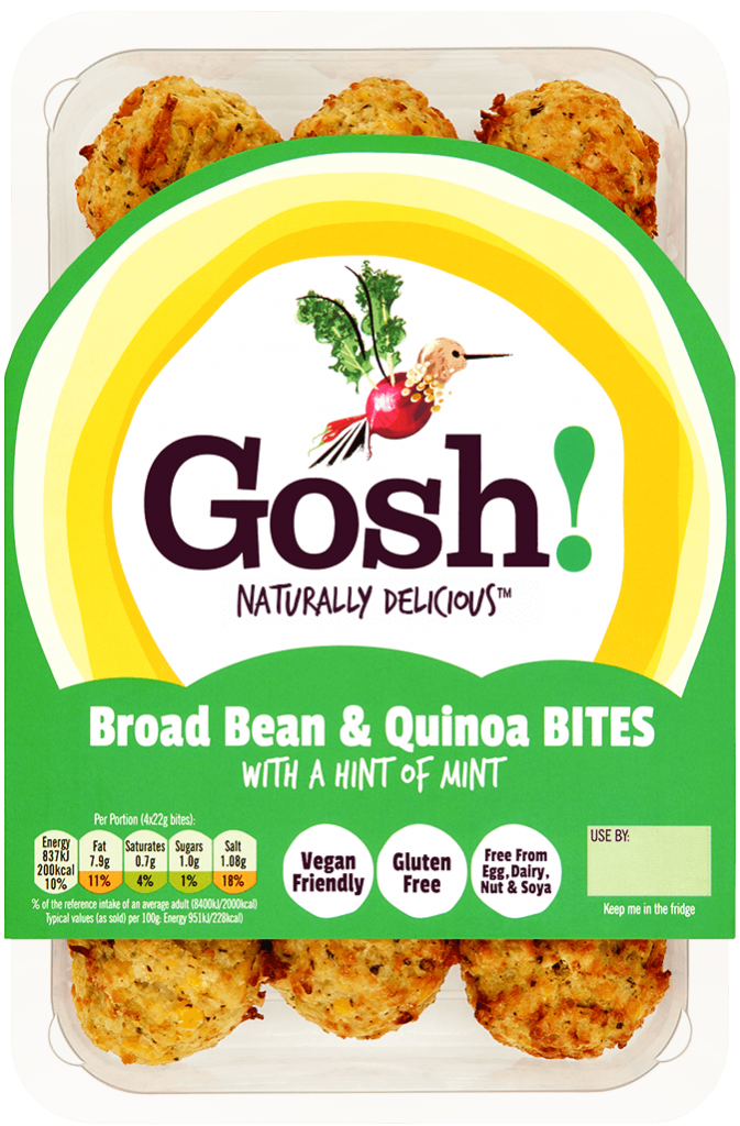 Broad Bean Quinoa Bites